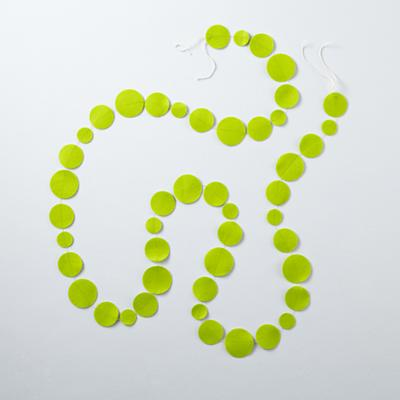 Lime Green Circle Garland