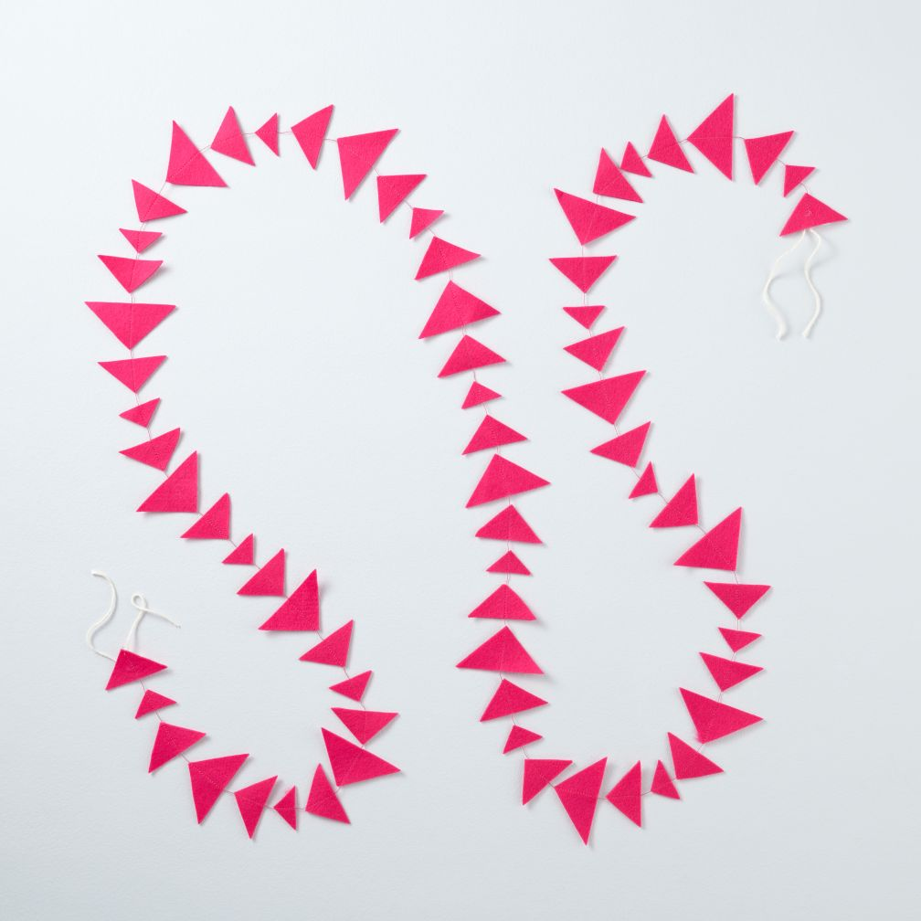 This Garland is Shaping Up (Hot Pink Triangle)