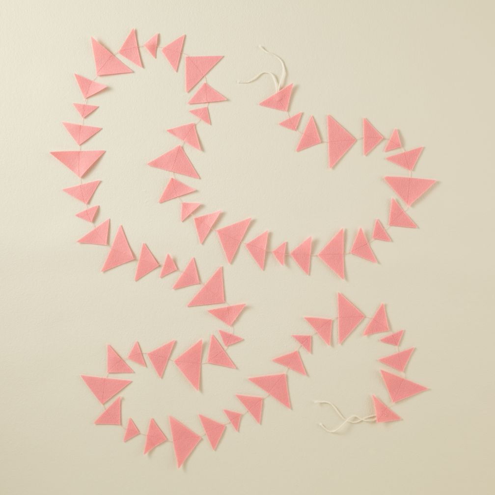 This Garland is Shaping Up (Lt. Pink Triangle)