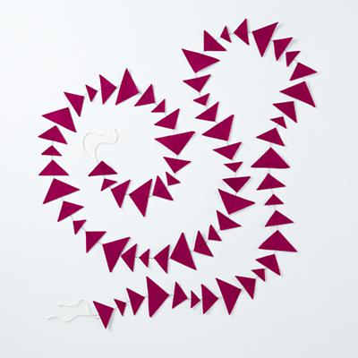 Magenta Triangle Garland