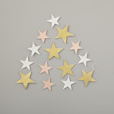 Starry Garland (Pink, Gold and White)