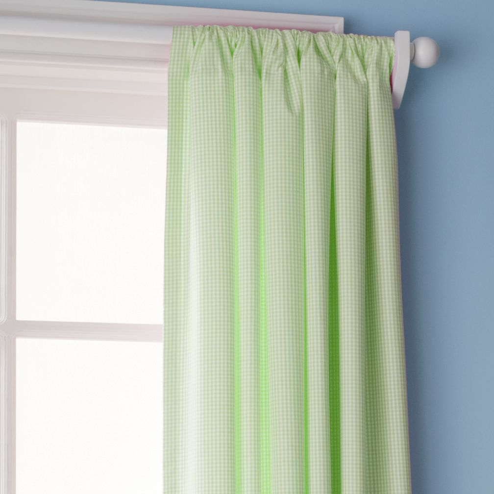 Checks, Please Curtain Panels (Green)