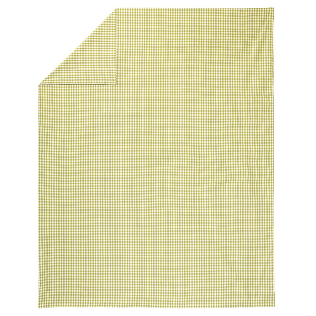 Full-Queen Green Gingham Duvet Cover