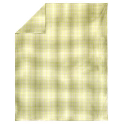 Green Gingham Duvet Cover (Full-Queen)