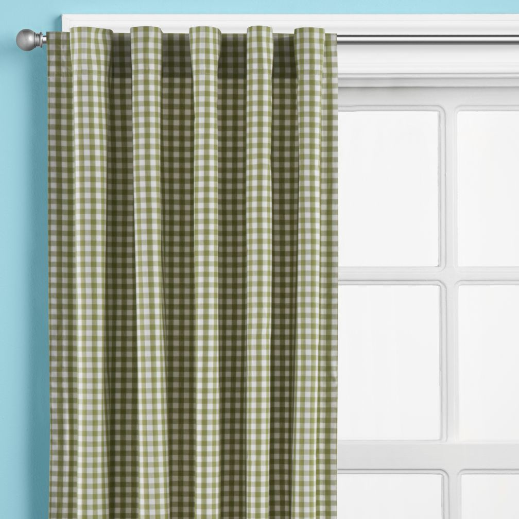 Green Gingham? Check. Curtain Panels? Check