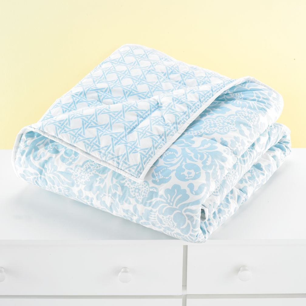 With a Flourish Comforter (Blue)