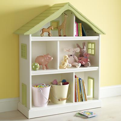 GreenDollhouseBkcase