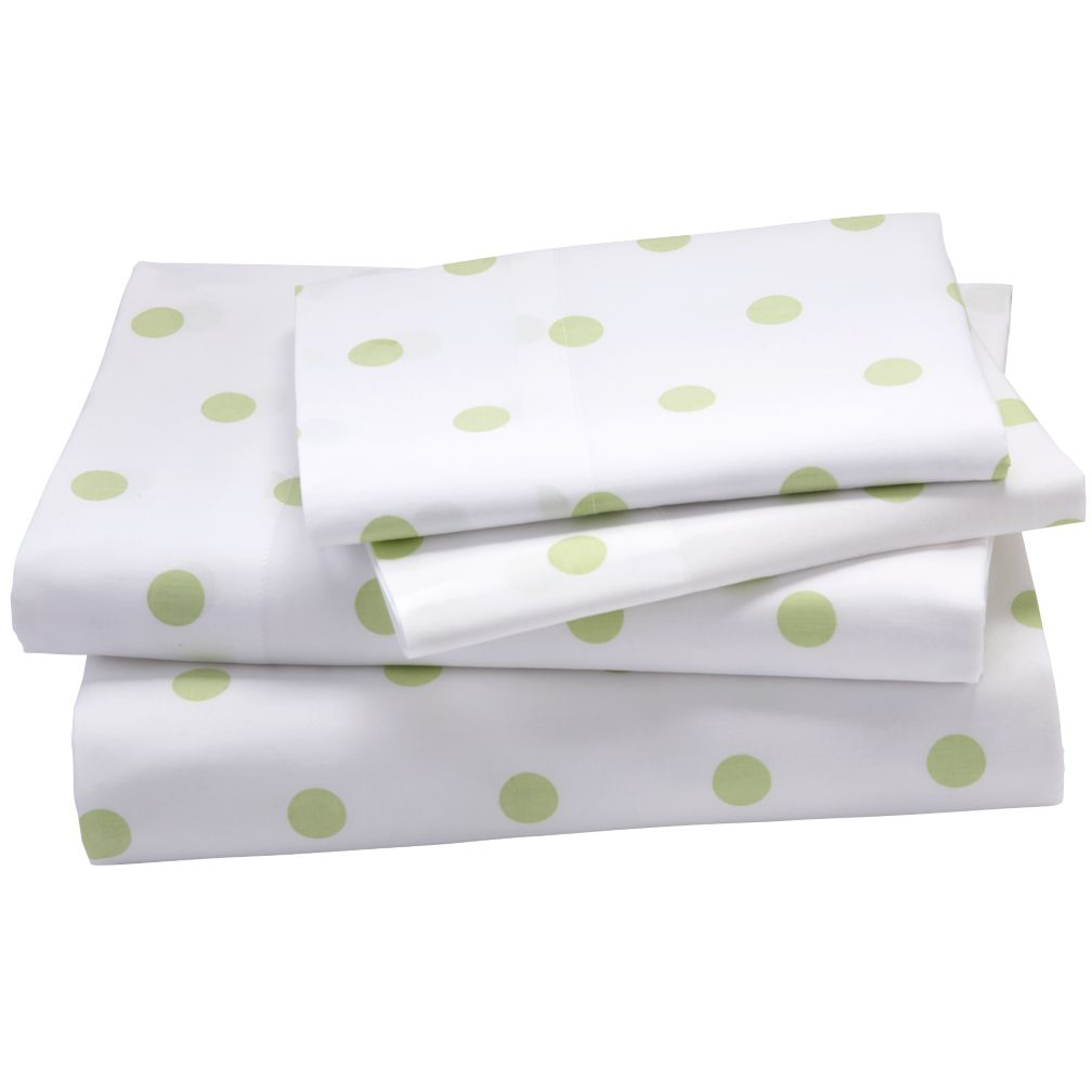 Green Pastel Dots Sheet Set (Queen)