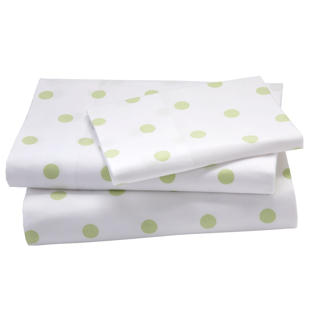 Green Pastel Dots Sheet Set (Full)