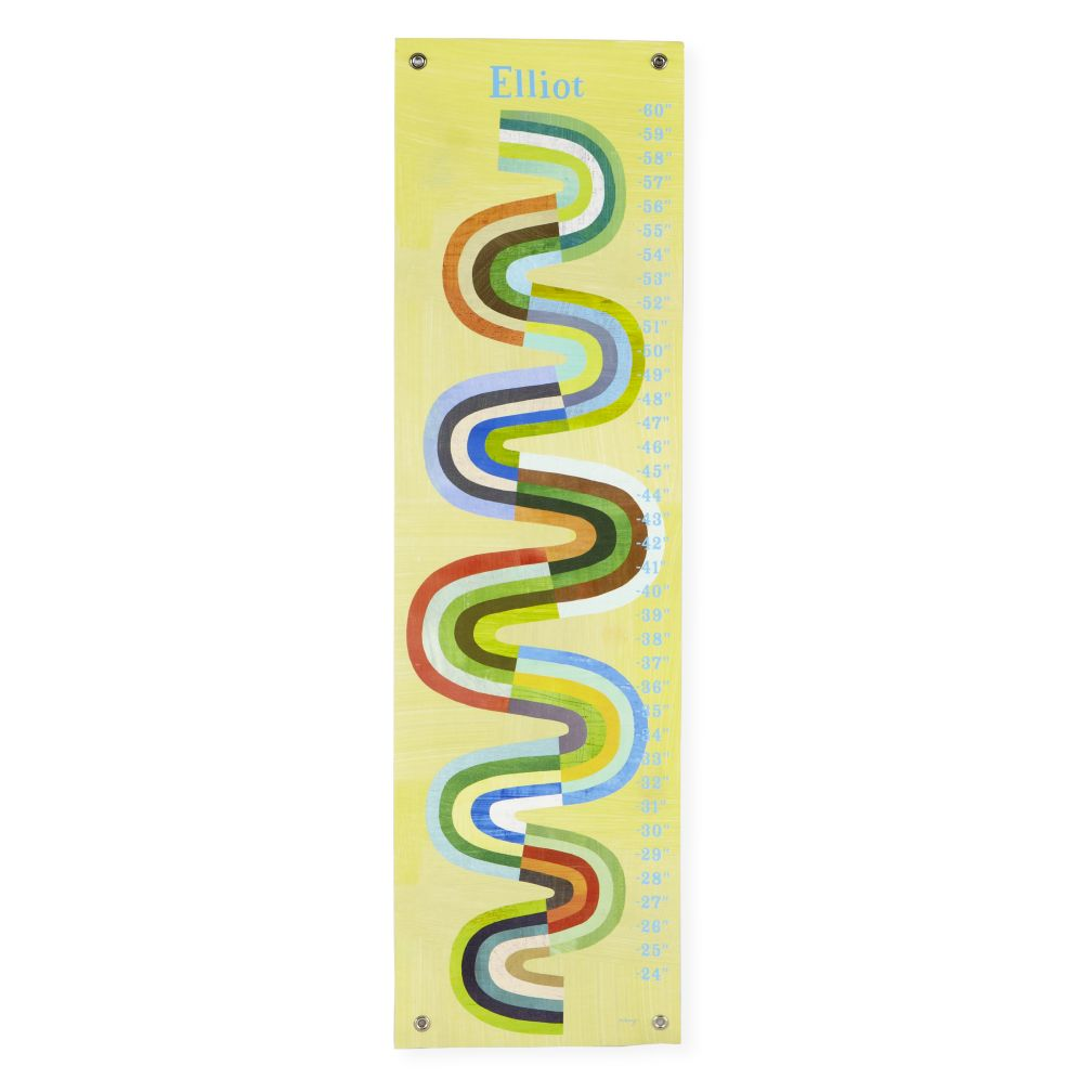 Personalized Abstract Slide Growth Chart