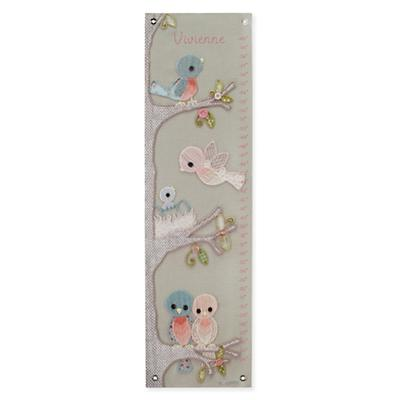 Personalized Vintage Birdies Growth Chart