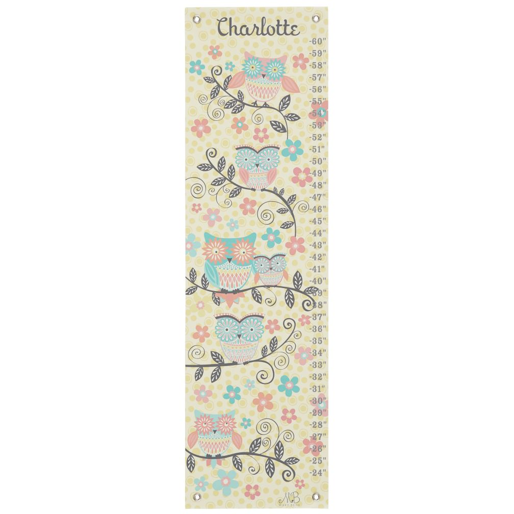 Owl and Branches Growth Chart