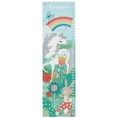 Personalized Unicorn in the Garden Growth Chart