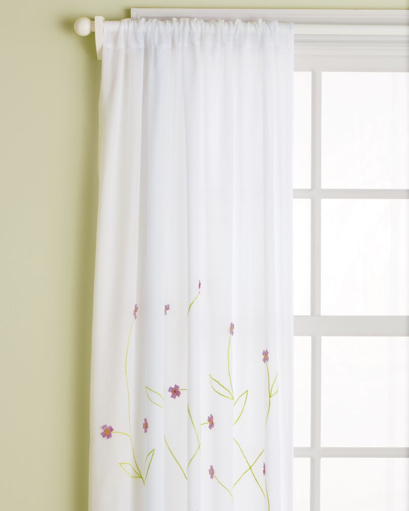 "63"" Hanging Garden Curtain Panel (Lavender)"