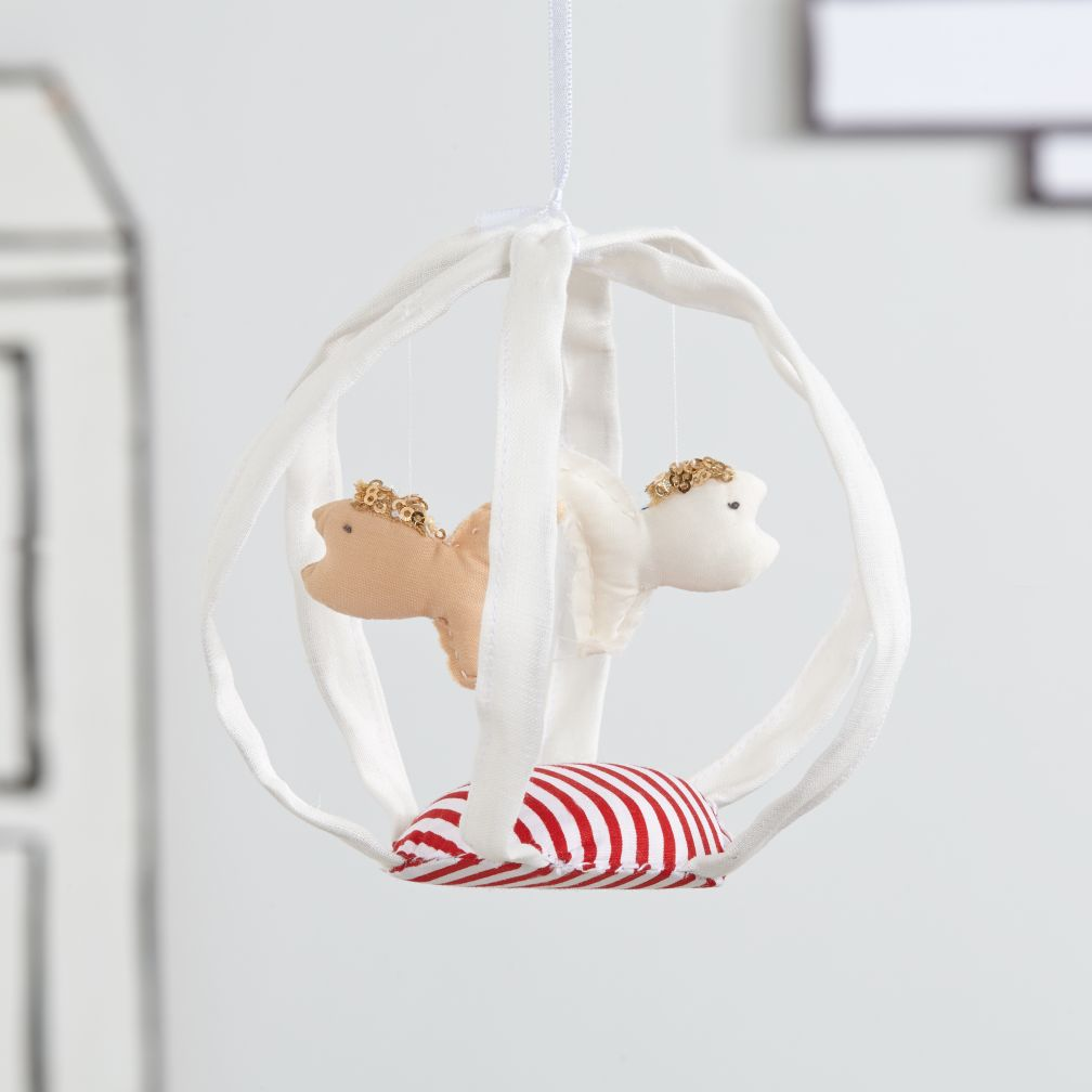 Handcrafted Hanging Décor (White Fishbowl)