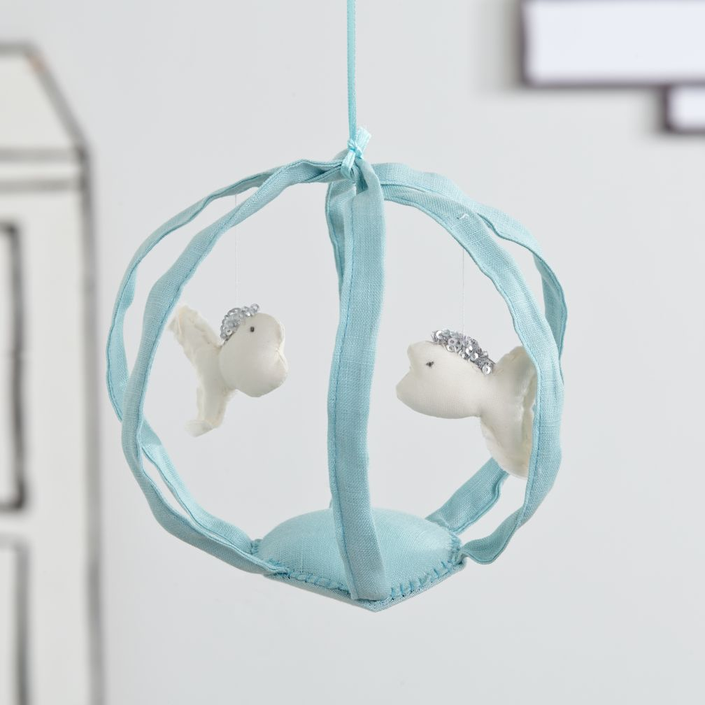 Hanging Fish Bowl Decor (Blue)