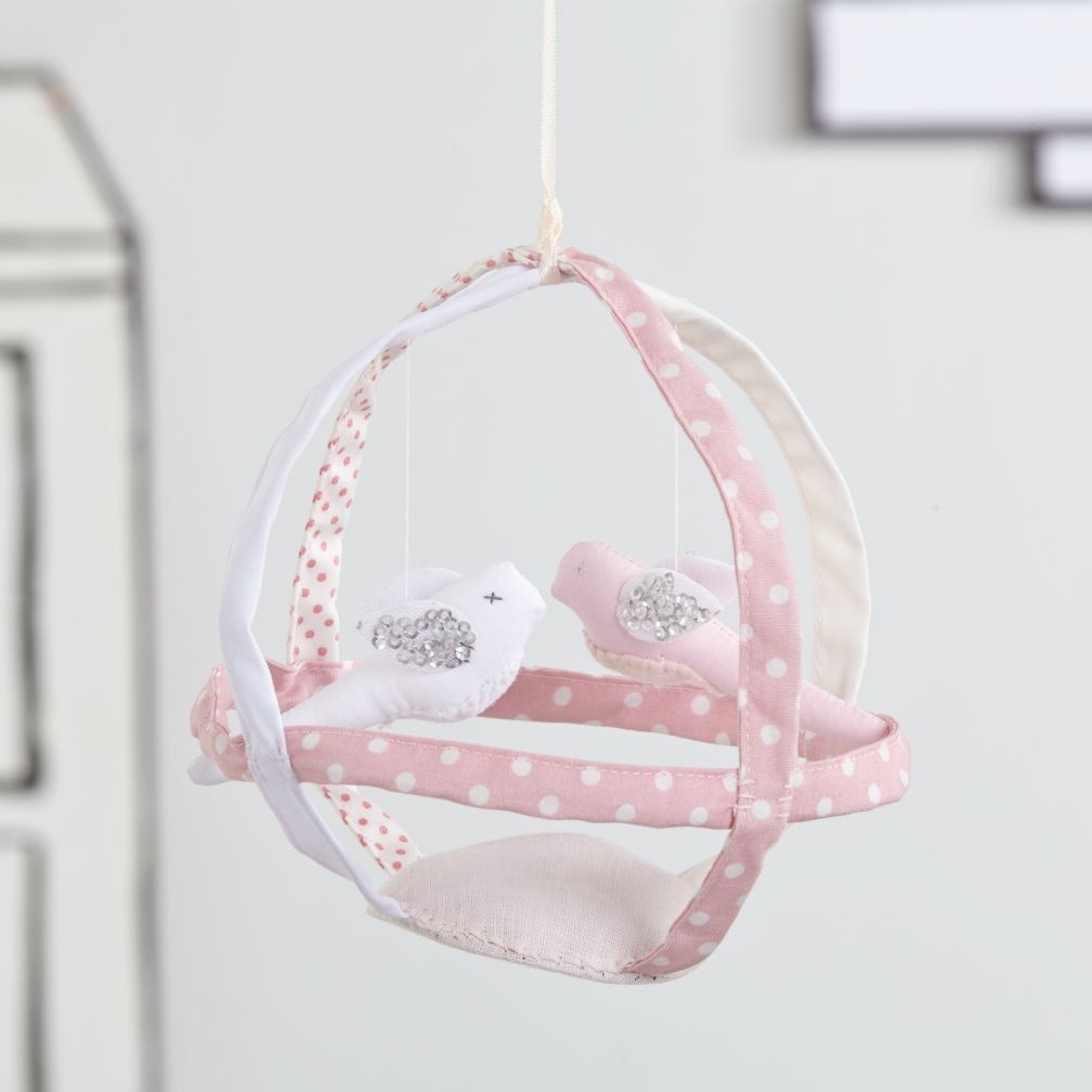 Hanging Birdcage Decor (Pink)