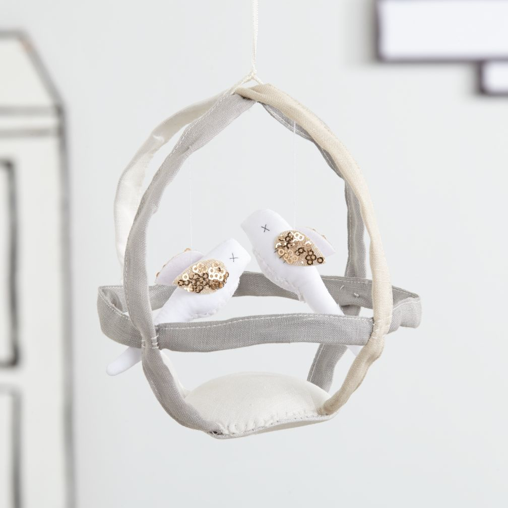 Hanging Birdcage Decor (Grey)