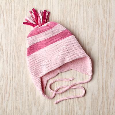 0-24 mos. MJK Flap Hat (Pink)