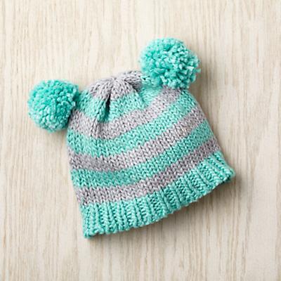 Pom Pom Hat (Aqua)