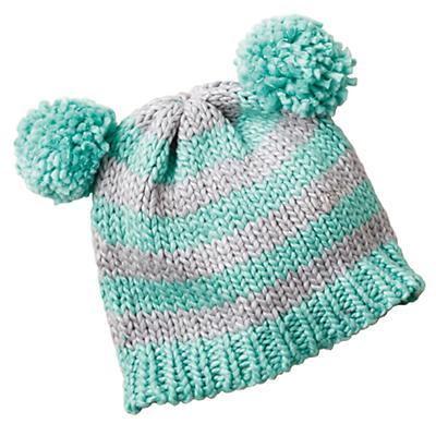 0-6 mos. Pom Pom Hat (Aqua)