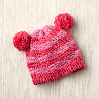 0-6 mos. Pom Pom Hat (Pink)