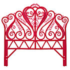 Full Hot Pink Aria Rattan Headboard
