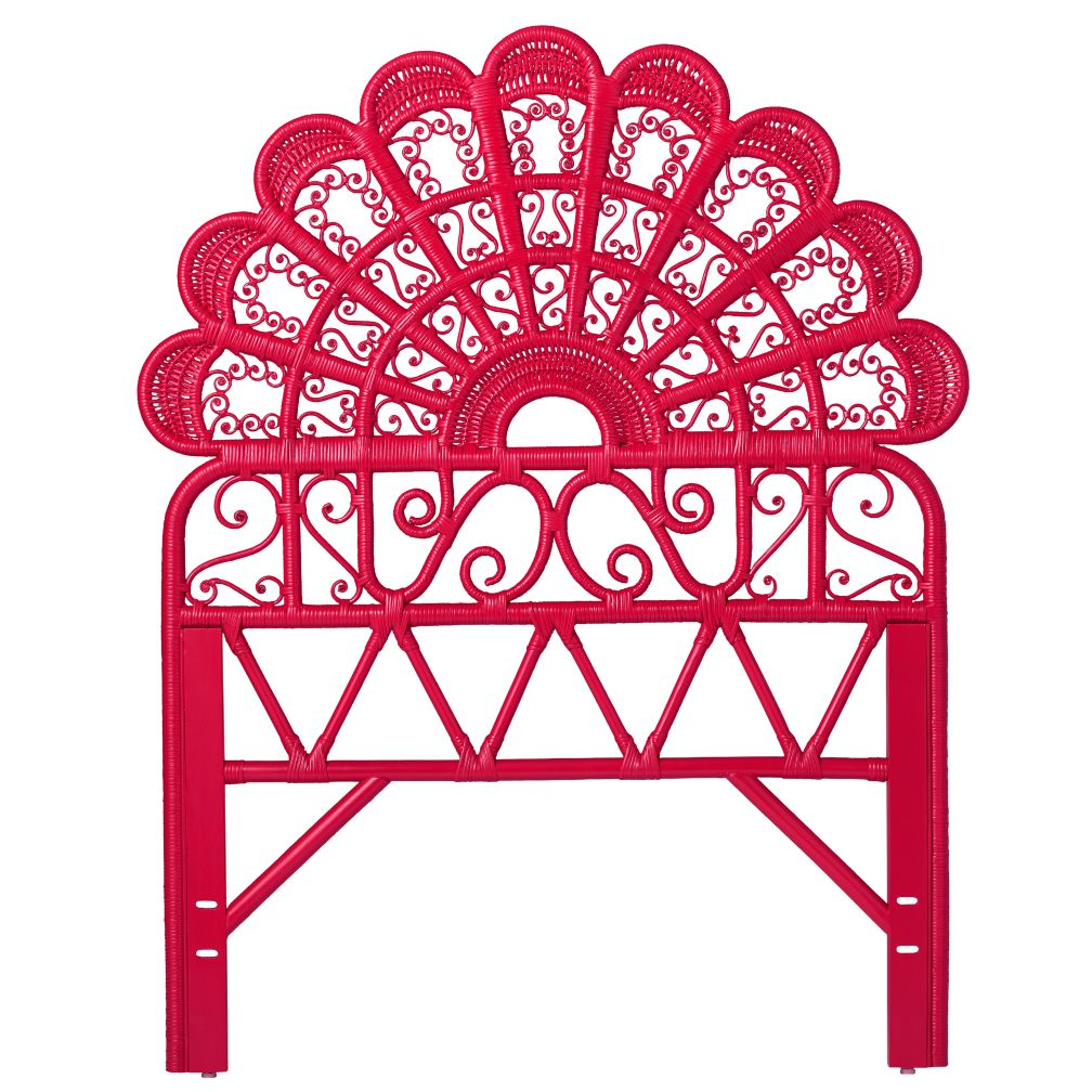 Twin Princess Plume Headboard (Hot Pink)