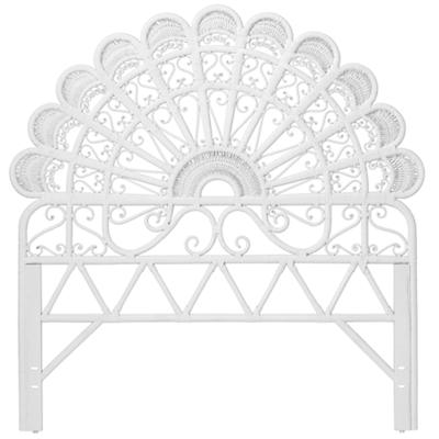 Full Princess Plume Headboard (White)