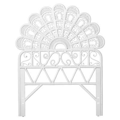 Twin Princess Plume Headboard (White)