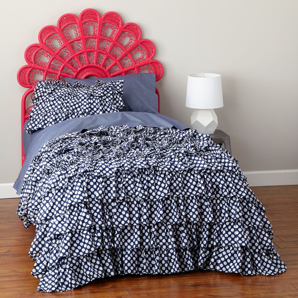 Full Princess Plume Woven Headboard (Hot Pink)