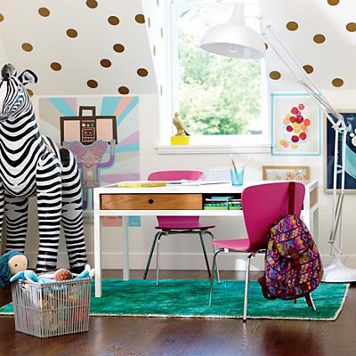 Adjustable hi fi modern kids play table walnut the land of nod
