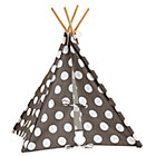 Grey w/White Dot Doll Size Teepee