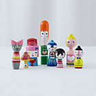 Happy Together Wooden Dolls Set of 8