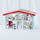 Set Cottage Dollhouse and FurnitureIncludes 5 Rooms of Furniture