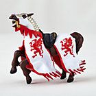 Red Dragon King Horse Figurine
