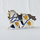 Blue Draped Horse Figurine