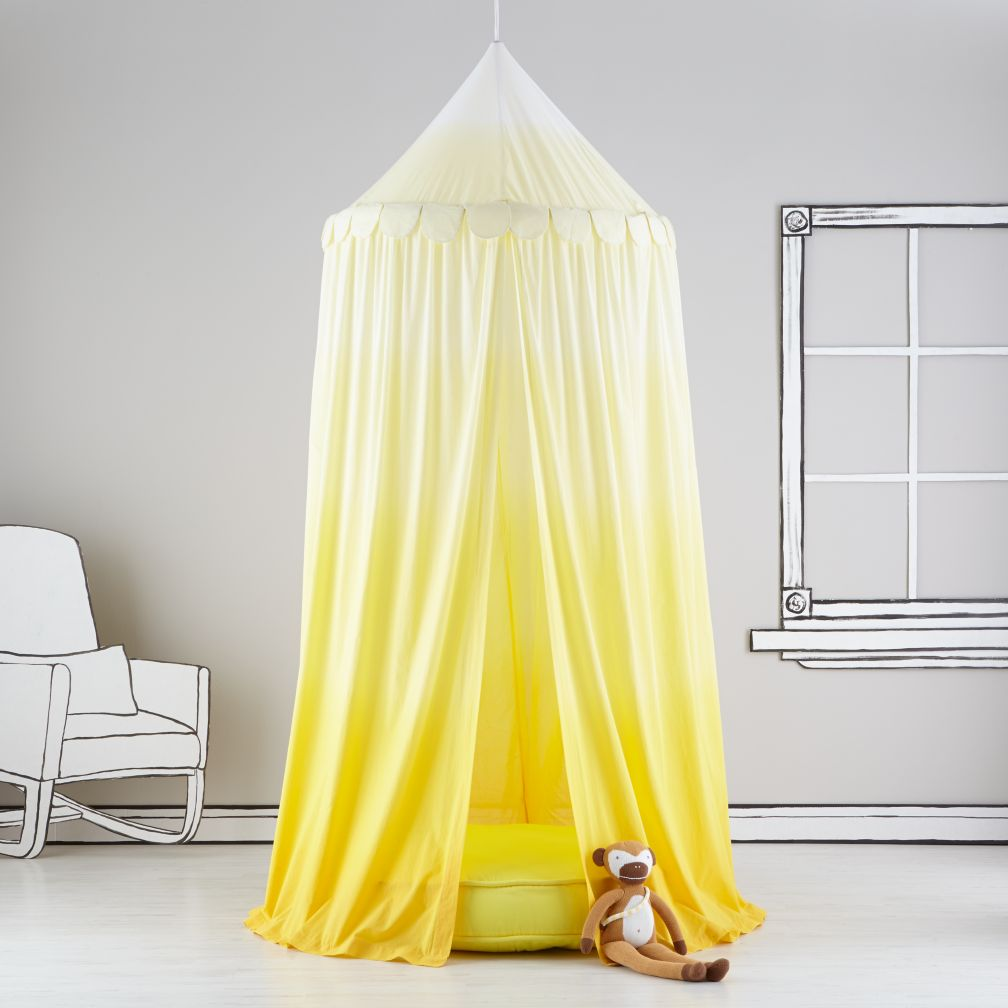 Home Sweet Play Home Canopy (Yellow Ombre)