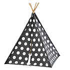 Grey w/White Dot Canvas Teepee