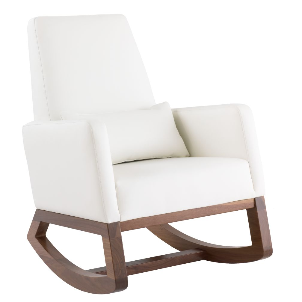 Joya Rocking Chair (White Leather)
