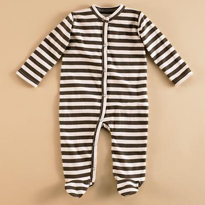 0-3 mos. Brown/White Footie