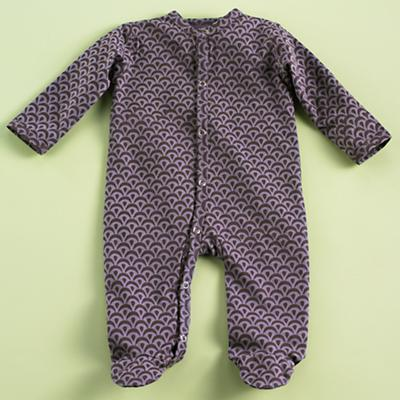 3-6 mos. Purple Footie