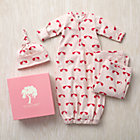 0-3 mos. Pink Elephants Snuggle Sack, Hat and Blanket Set
