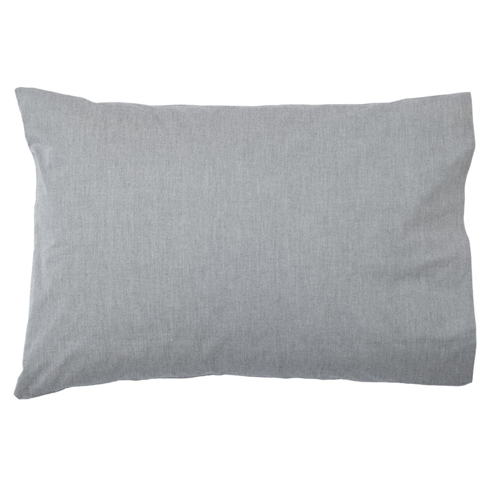 Grey Chambray Pillowcase
