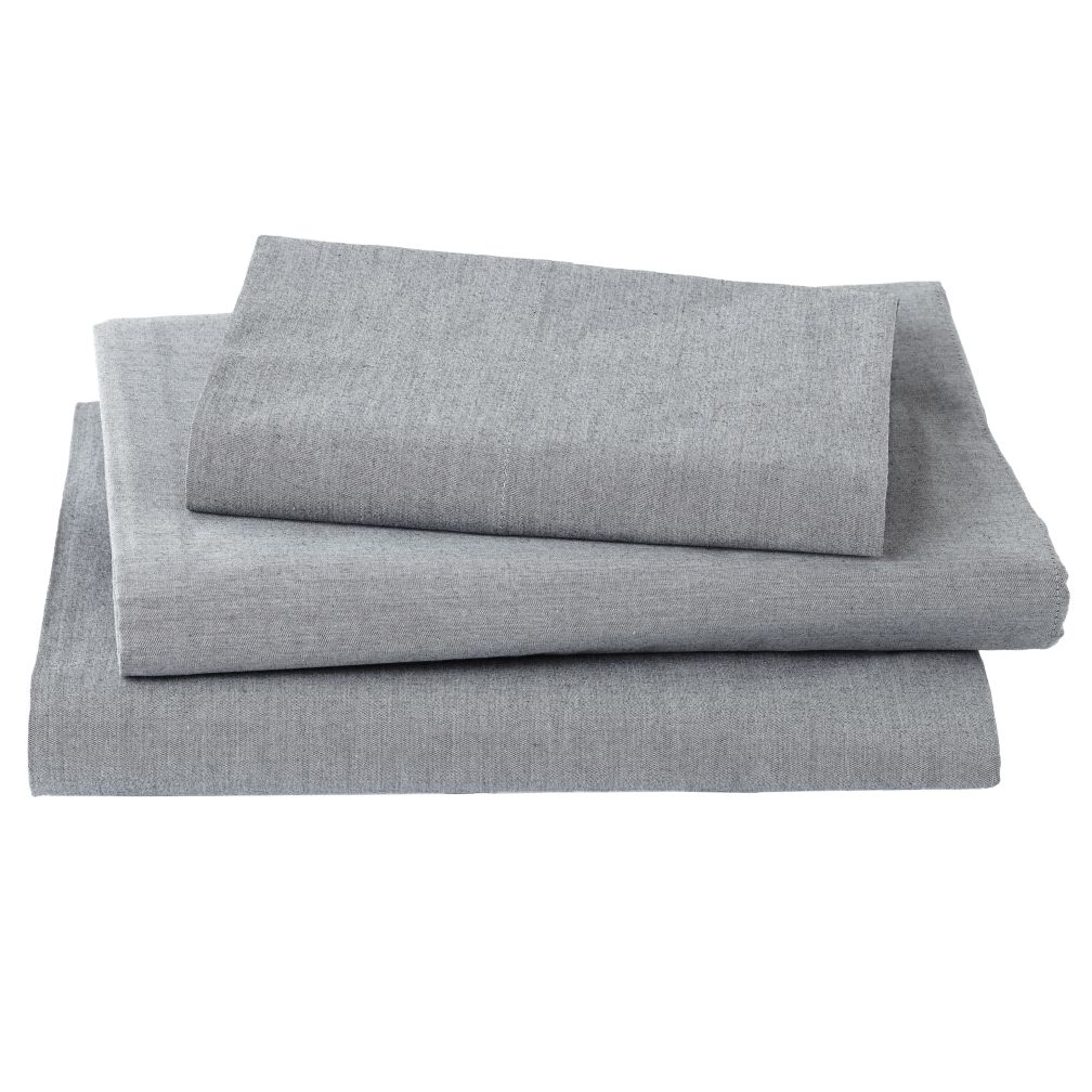 My Grey Chambray Sheet Set (Twin)