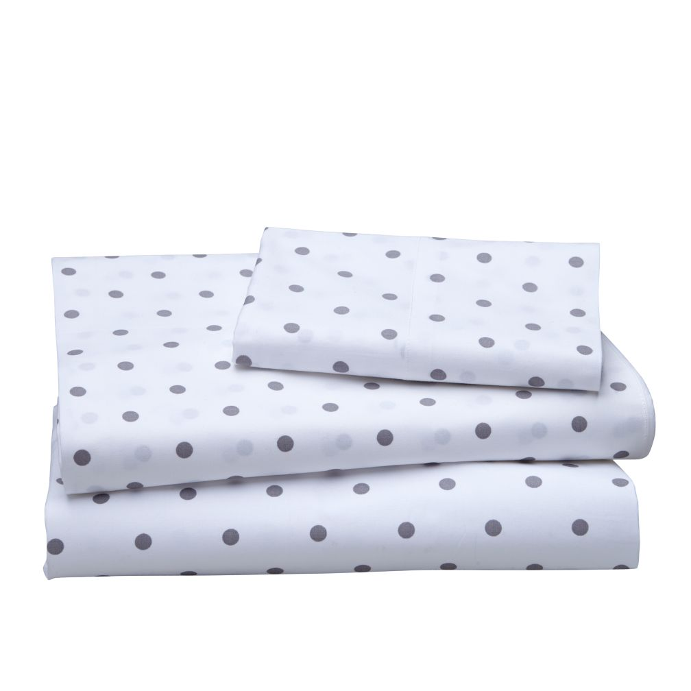 Dream Girl Twin Sheet Set (Grey)