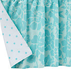 Aqua Floral Dot Reversible Crib Skirt
