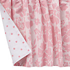 Pink Floral Dot Reversible Crib Skirt