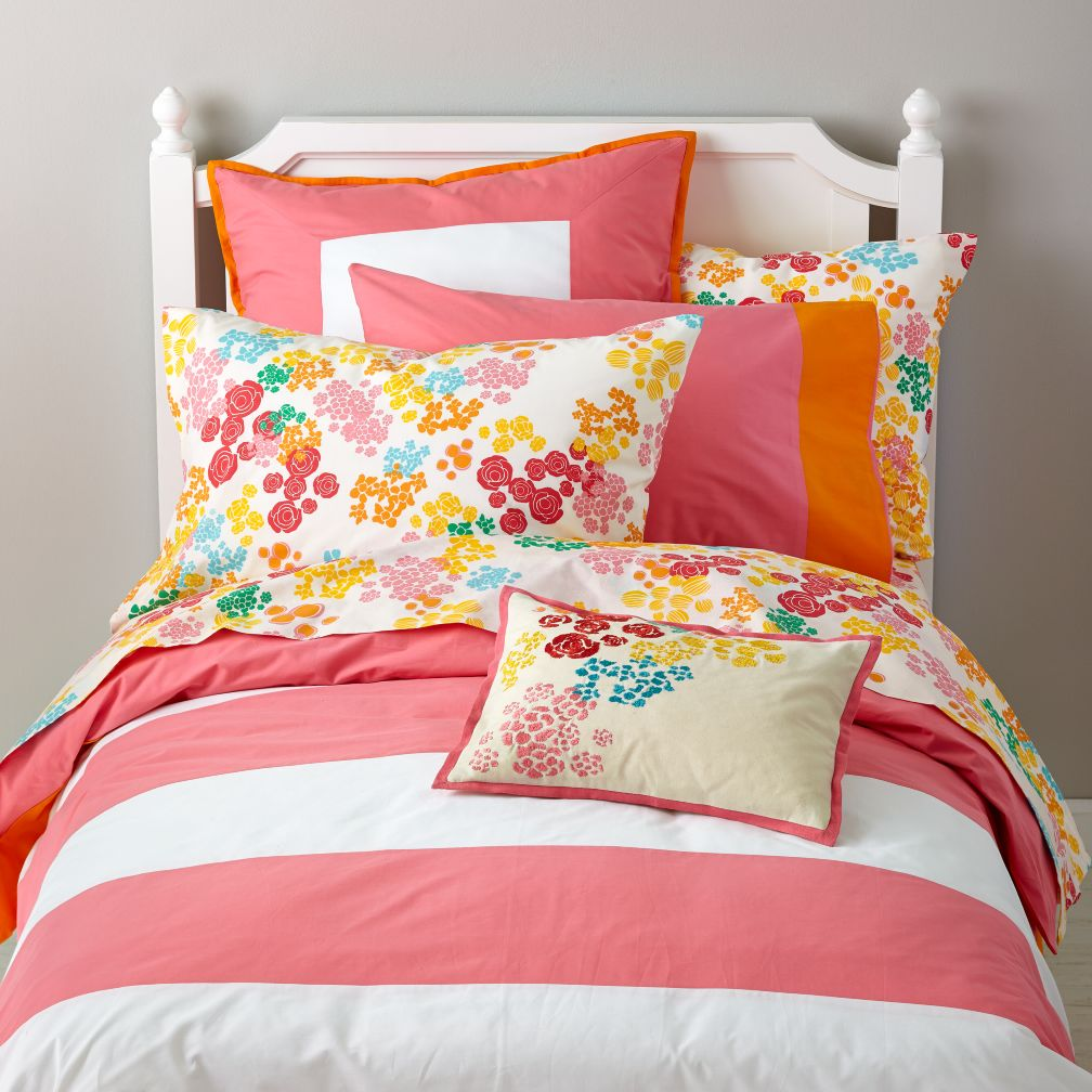 Floral Gem Stripe Duvet Cover