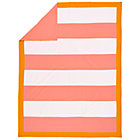 Full-Queen Pink Stripe Duvet Cover